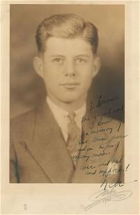 John F. Kennedy's 1935 Choate Senior Year Portrait
