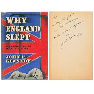 """John F. Kennedy Inscribed First Published Book """"Why"""
