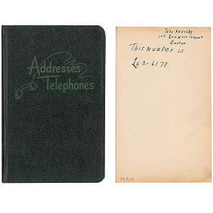 John F. Kennedy 1947–1952 Congressional Address Book