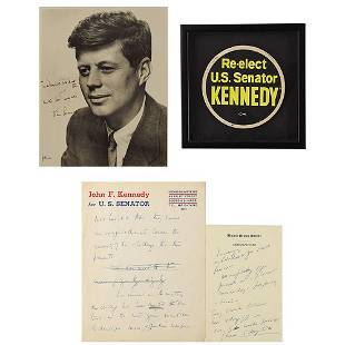 John F. Kennedy Inscribed Photograph and (2)