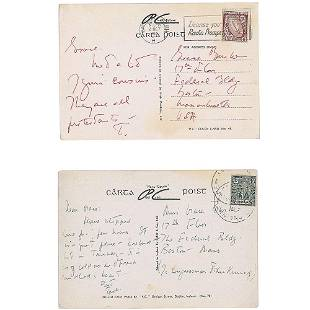 John F. Kennedy 1955 (2) Autograph Postcards from