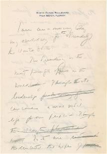 John F. Kennedy Handwritten Manuscript Announcing His