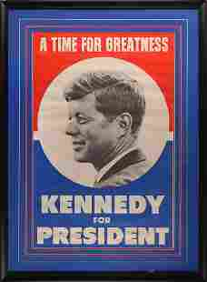 John F. Kennedy 1960 Signed Oversized Campaign Poster
