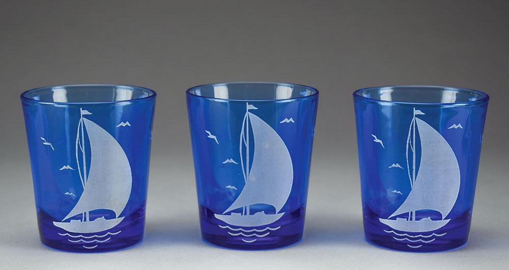 Franklin D. Roosevelt's Group of (3) Sailboat Tumblers