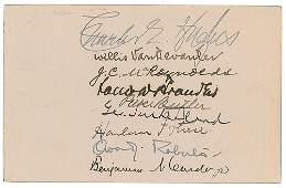Hughes Court Signatures