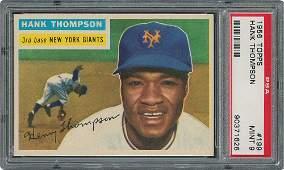 1956 Topps #199 Hank Thompson - PSA MINT 9 - one