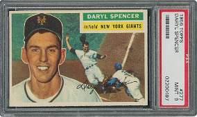 1956 Topps #277 Daryl Spencer - PSA MINT 9 - one