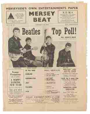 Beatles 1962 Mersey Beat Newspaper