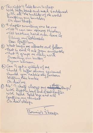 John Lennon Handwritten Poem
