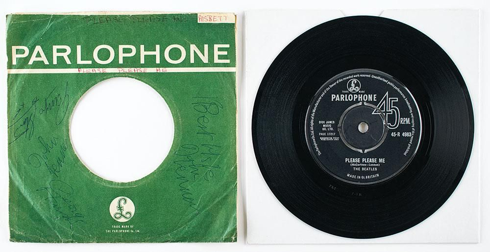 Beatles Signed 'Please Please Me' 45 RPM Record