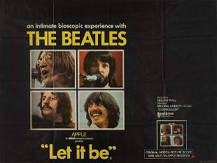 Beatles 1970 'Let It Be' Movie Poster