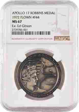 Ed Gibson's Apollo 17 Flown Robbins Medal