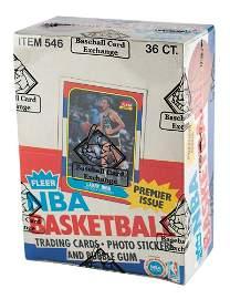 1986 Fleer Basketball Wax Box