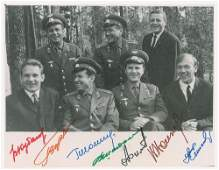 Cosmonauts Signed Photograph