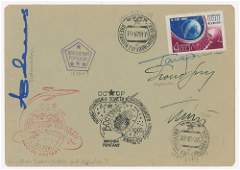 Yuri Gagarin and Cosmonauts Signed Cover