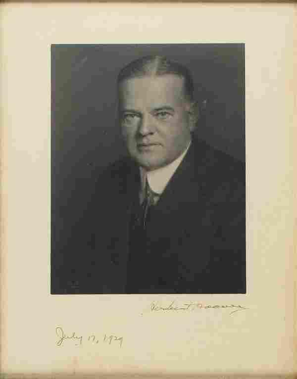 Herbert Hoover Signed Photograph