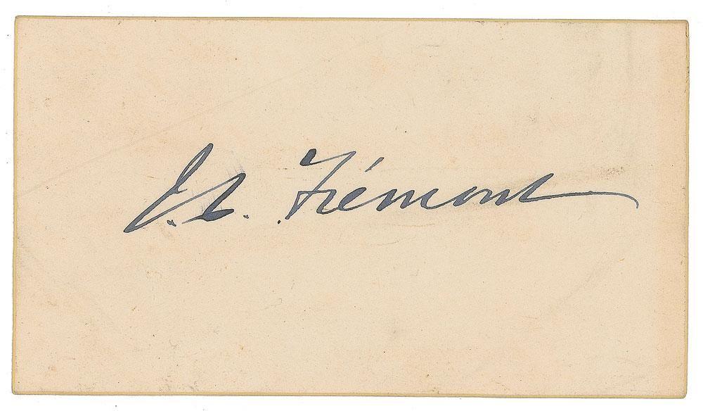 John C. Fremont Signature