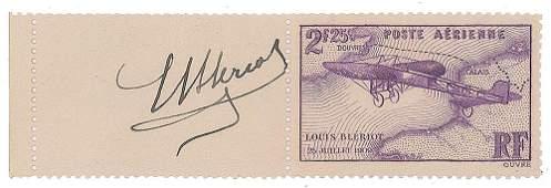 Louis Bleriot Signature