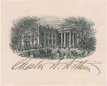 Chester A. Arthur Signed Engraving