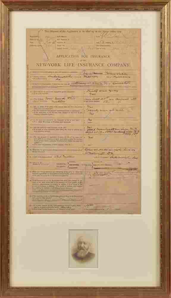 Benjamin Harrison Autograph Document Signed
