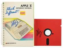 Apple: Steve Wozniak Signed Manual and Floppy Disk