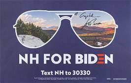 Joe Biden Signed Campaign Sign