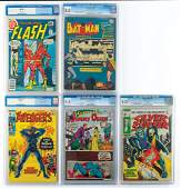 Marvel and DC Group of 5 Comic Books Graded by CGC