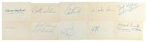 Jazz Greats Group of 60 Signatures