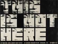 John Lennon and Yoko Ono Signed Poster