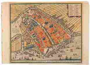 Amsterdam Engraved Map by Frederik de Wit