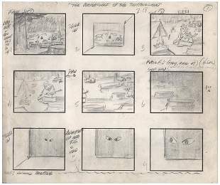 Jonny Quest complete storyboard from the episode The