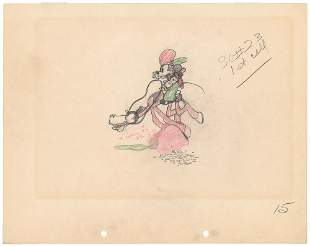 Mickey Mouse production drawing from Two-Gun Mickey
