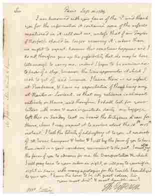 Thomas Jefferson Autograph Letter Signed