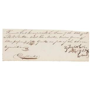 Zachary Taylor Document Signed