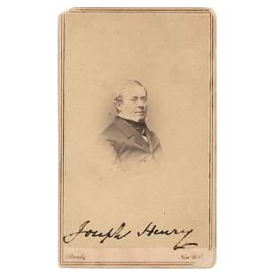 Joseph Henry Signed Photograph