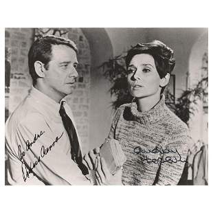 Audrey Hepburn and Richard Crenna Signed Photograph