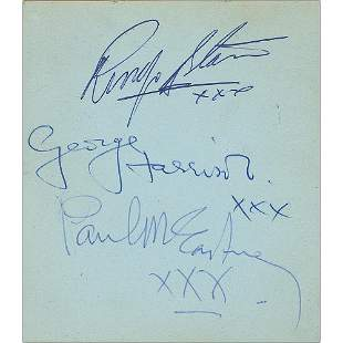 Beatles and Rolling Stones Autograph Album