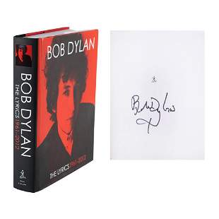 Bob Dylan Signed Book