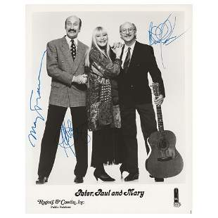 Peter, Paul, and Mary (2) Signed Photographs