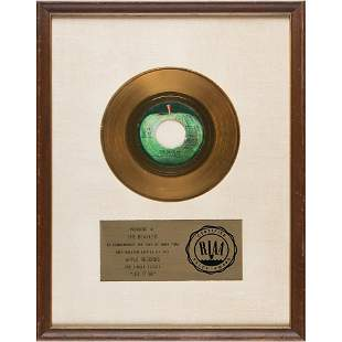 Beatles RIAA Sales Award for 'Let It Be'