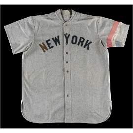 Roger Peckinpaugh's Game-Used 1918 New York Yankees