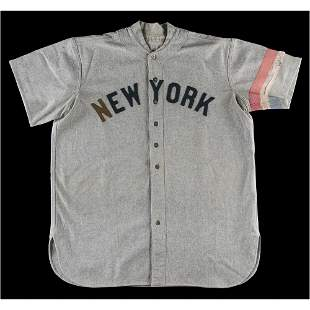 Roger Peckinpaugh's Game-Used 1918 New York Yankees