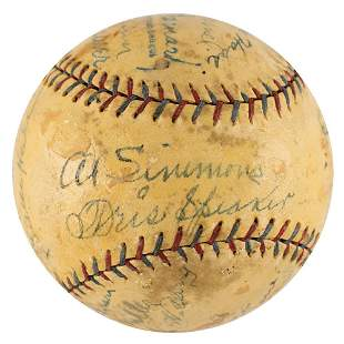 1928 Philadelphia Athletics Team-Signed Baseball