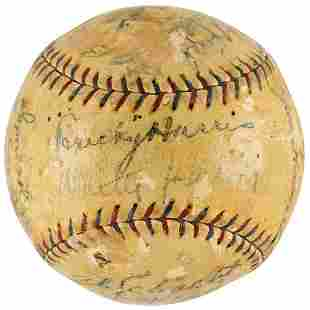 1925 Washington Senators Team-Signed Baseball