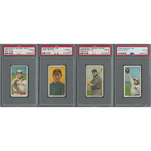 1909-11 T206 Lot of (10) with Hal Chase and (4) PSA