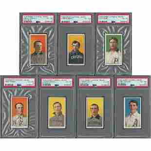 1909-11 T206 Portraits Lot of (7) - Graded PSA VG-EX