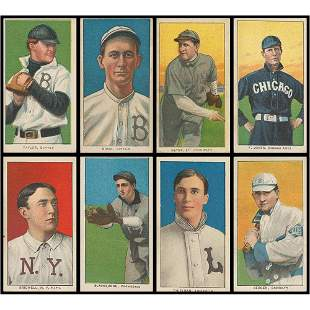 1909-11 T206 Lot of (8) - VG to VG-EX