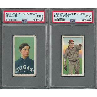 1909-11 T206 Sweet Caporal 150/30 Ed Walsh and Rube