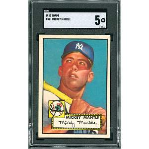 1952 Topps #311 Mickey Mantle - SGC EX 5