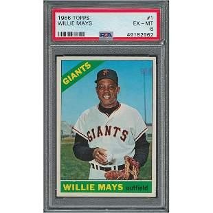 1966 Topps #1 Willie Mays PSA EX-MT 6